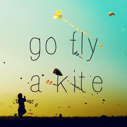 go fly a kite, no really
