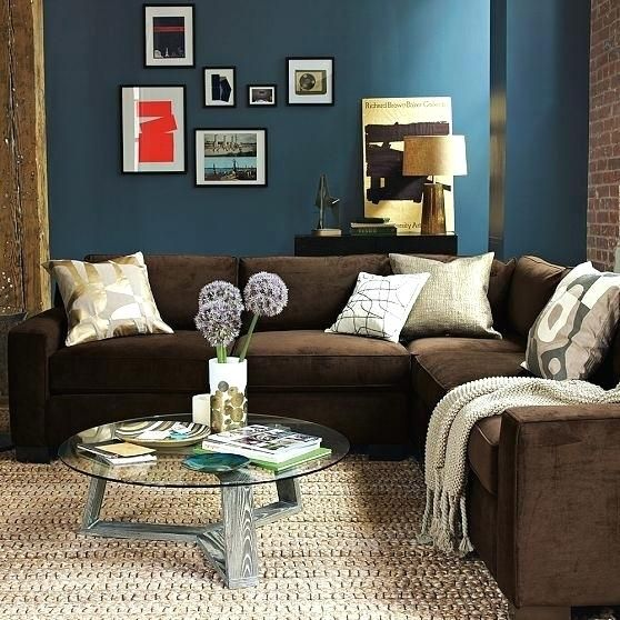 Living Room Walls With Brown Furniture Brown And Blue Living Room Brown Couch Living Room Brown Living Room Decor