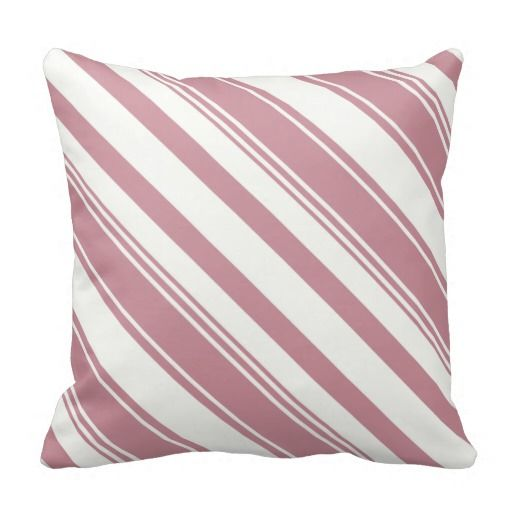Red and White Diagonal Stripes Pillow ............This design features a Red and White Diagonal Stripes pattern. Check out my store for more pillows with different colors. This design/color is also available on other products.