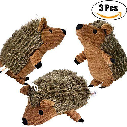 Hedgehog Dog Toys Legendog 3 Pcs Pet Squeaky Toys Stuffed Plush