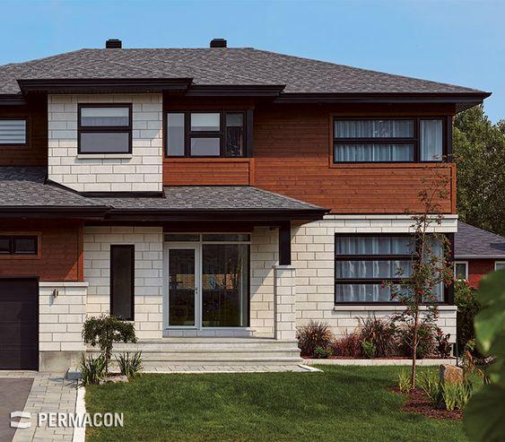 L gante maison avec entr e en pierre home home for Devanture maison design