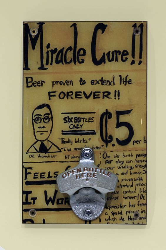 Miracle Cure bottle opener. Photo by Sam Fein.