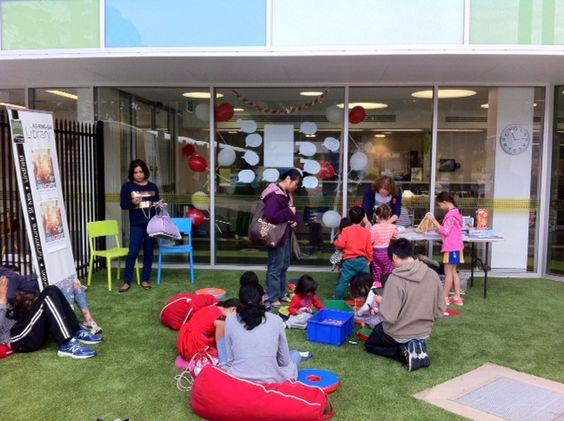 The children's nook at Ku-ring-gai's pop-up library at the Ku-ring-gai Fitness & Aquatic Centre