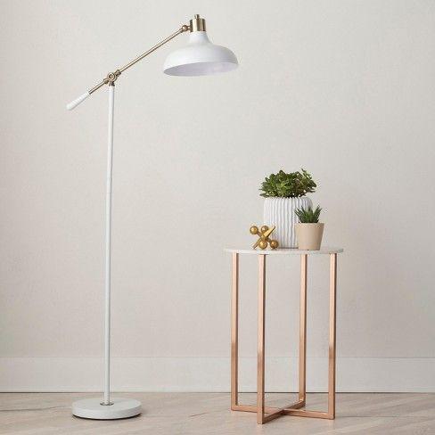Crosby Schoolhouse Floor Lamp White Threshold™   White