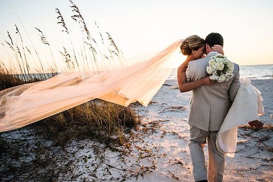 A beach wedding photo. This sums up what I think of when I think home.: