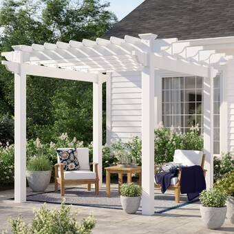 Pin By Arhip On Bahce Betanda Tasarimlari In 2020 Wood Pergola Pergola Patio Vinyl Pergola
