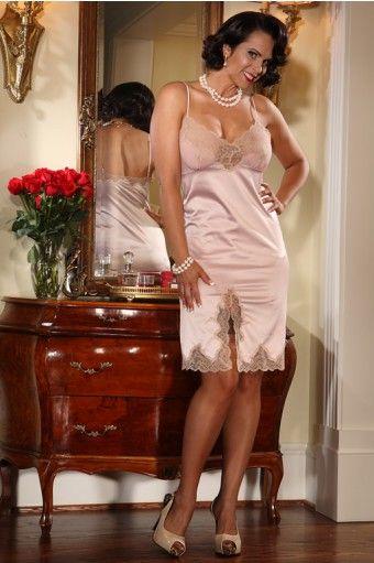 Cassandra Full Slip Pink I Love Secrets In Lace