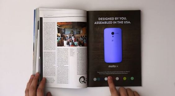 Check Out the Moto X Interactive Print Ad [Video] - http://www.aivanet.com/2013/12/check-out-the-moto-x-interactive-print-ad-video/
