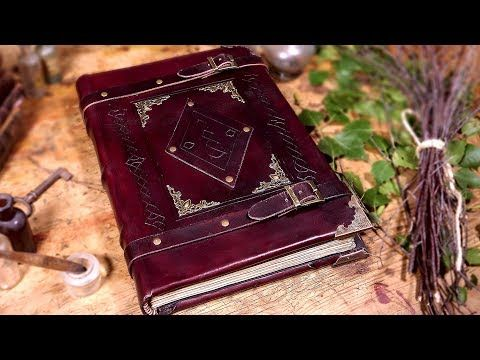 Making A Heavy Book With Real Leather Youtube Fantastic Start To Finish Bookbinding Tutorial Ash Leather Book Covers Book Binding Glue Book Binding