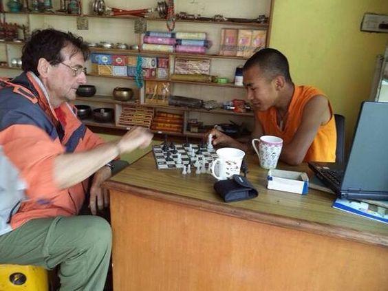 Ajedrecistas Baleares en el Mundo:  Pep Matas en el Tíbet #ajedrez #chess #escacs #4x1x64
