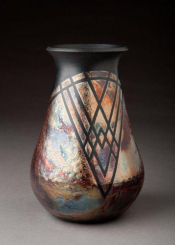 Raku Vase Raku Pottery Raku Ceramics Raku