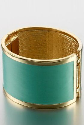 Add a bit of colour to your outfit with this Limited Collection turquoise military bangle.