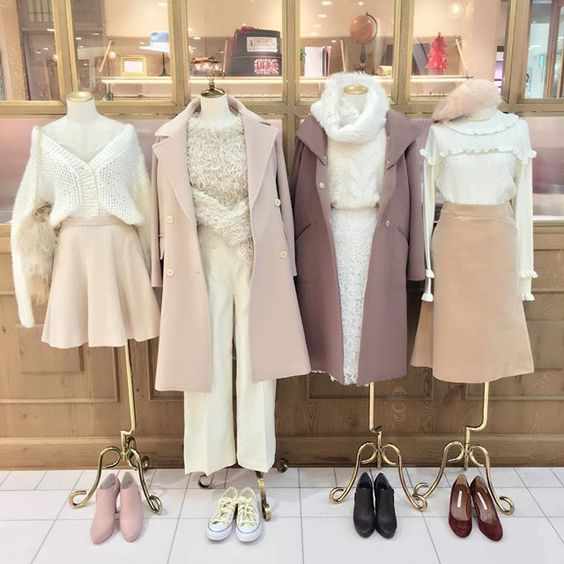 deicy official instagram - outfits white beige sheer offwhite creme color fashion