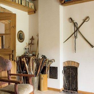 Dom jest urządzony w staroświeckim klimacie.