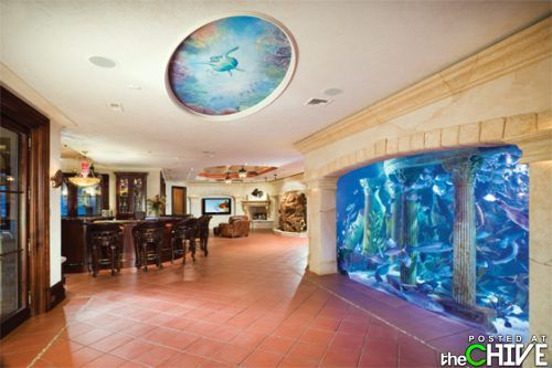 basement aquarium?  what if it were on two or three floors of the house?!?