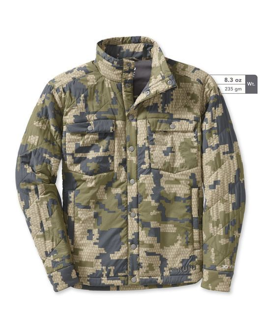 Insulated Snap Shirt Verde Camo Casual Style