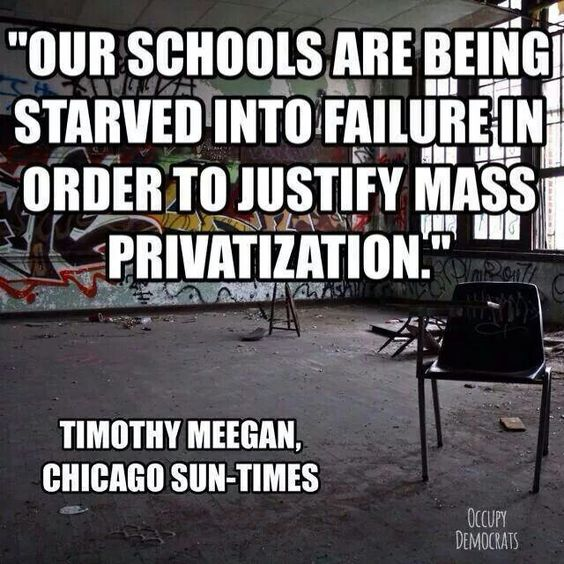 Image result for Starving Schools to Feed Privatization