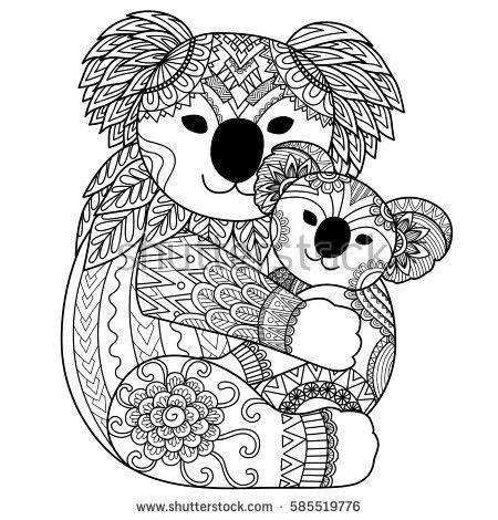 Pin Von Sonja Eichberger Auf Koalas Basteln Zeichnen Ausmalbilder Panda Kostenlose Erwachsenen Malvorlagen Mandala Tiere