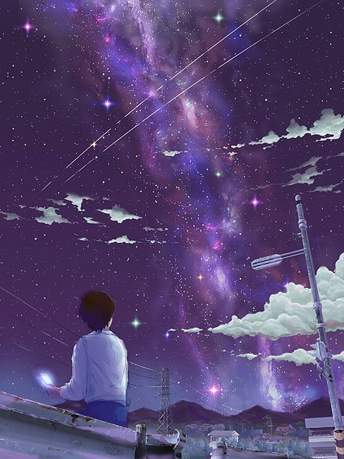 Anime Night Sky: Anime, Sky And Scenery On Pinterest