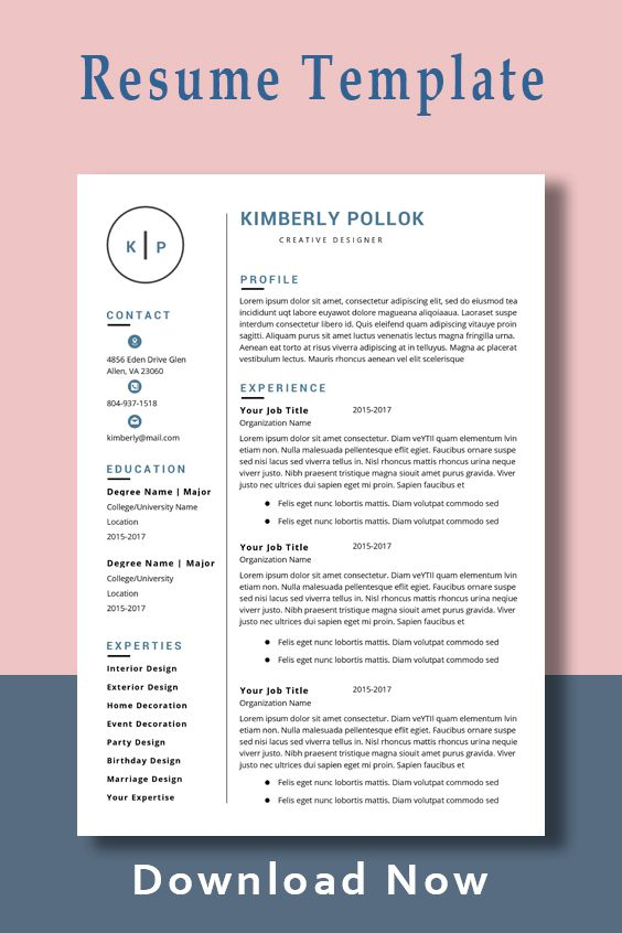 Resume Template Professional Resume Template Instant Download Resume Template Word Cv Cv Template Resume Template Free Resume Template Job Resume Examples Resume Template Professional
