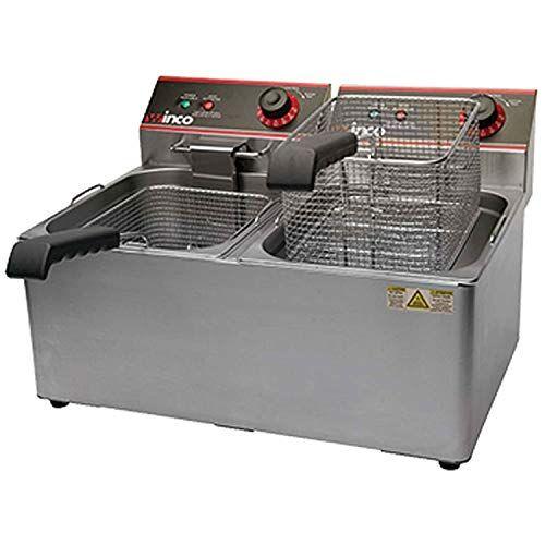 Winco Eft 32 Electric Deep Fryer 1800w 120v 60hz Twin Well 32