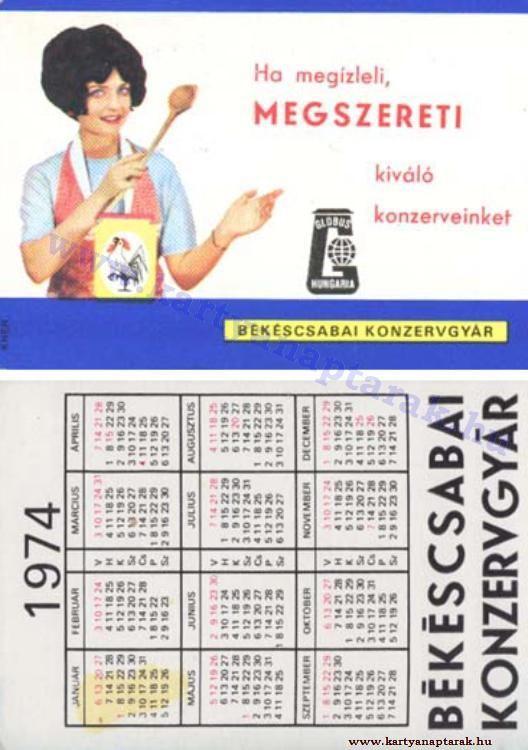 1974 1974 0439 Regi Magyar Kartyanaptarak