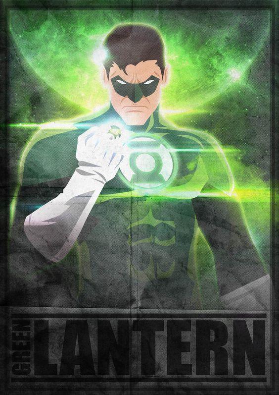 Green Lantern Poster by Herobaka