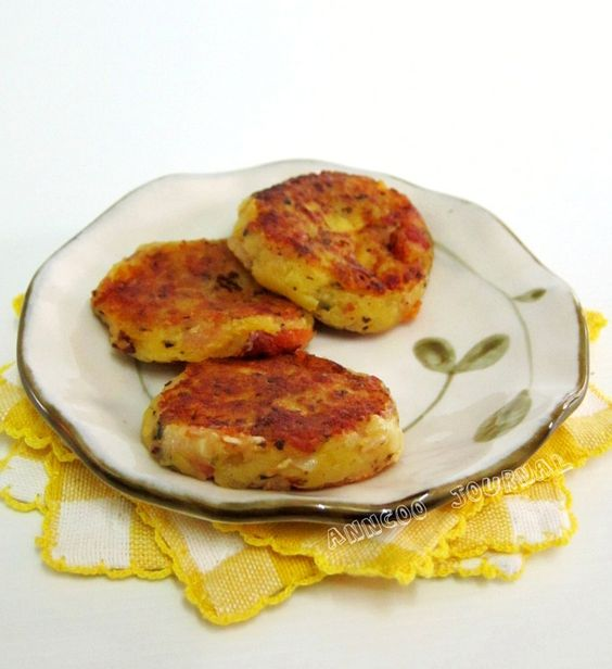 Potato Cake With Cheese And Bacon Recipe — Dishmaps