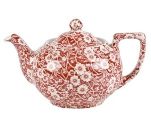 Burleigh Red Calico Teapot...I love this! I'd love to have a whole set.