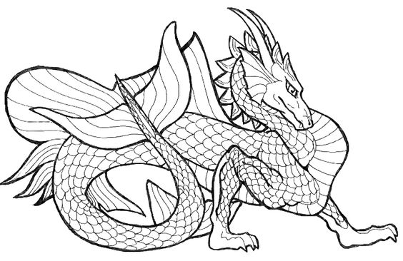 Picture Of A Dragon That Lives In The Waters Coloring Pages - Dragon Coloring Pages : KidsDrawing – Free Coloring Pages Online