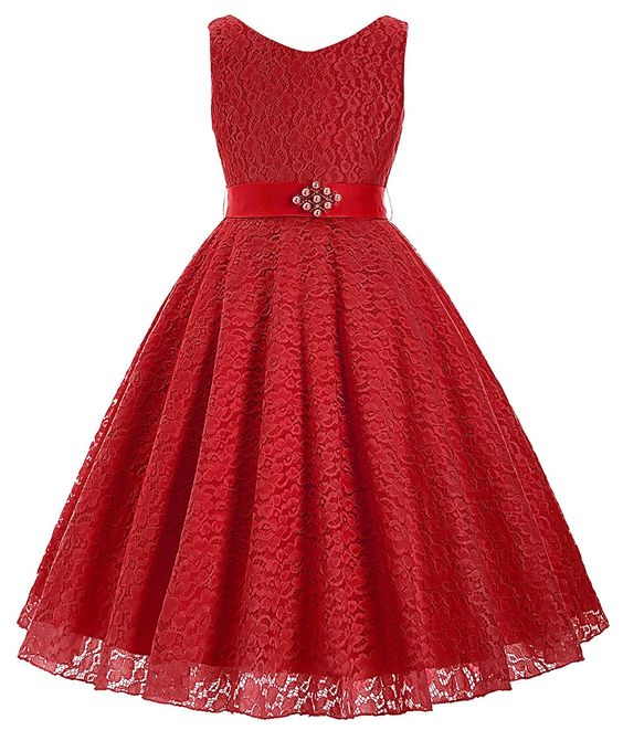 Amazon.com: TrendyFashion Swing Tulle Flower Dresses for Girls(10-11yrs) CL8938-7: Clothing