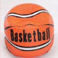 Pouf a sacco in ecopelle per bambini mod. Basketball