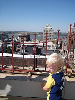 View from the roof of the Peabody Hotel