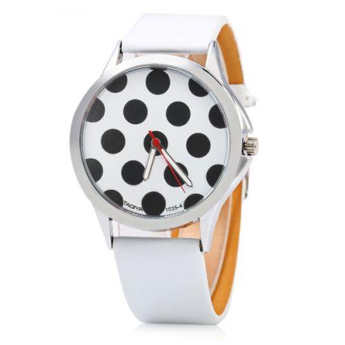 polka dot watch  $3.41  hipster pop kei fairy kei grunge fachin watch accessories bracelet jewelry under10 under20 under30 dresslily free shipping