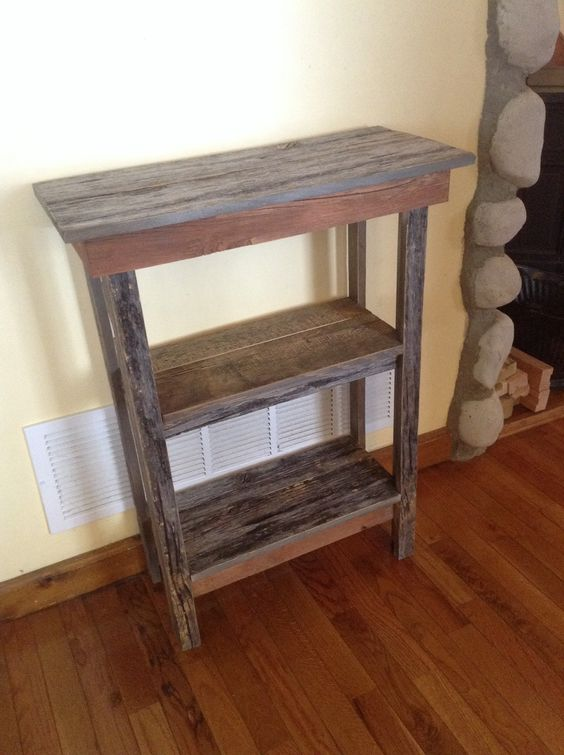 Hand made from barn wood...a stand for the house