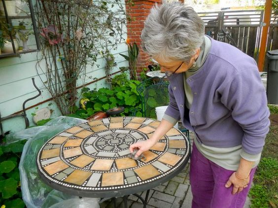Mosaics mosaic tables and mosaic tiles on pinterest - Basics mosaic tiles patios ...