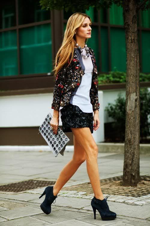 Chic street style on Olivia Palermo.