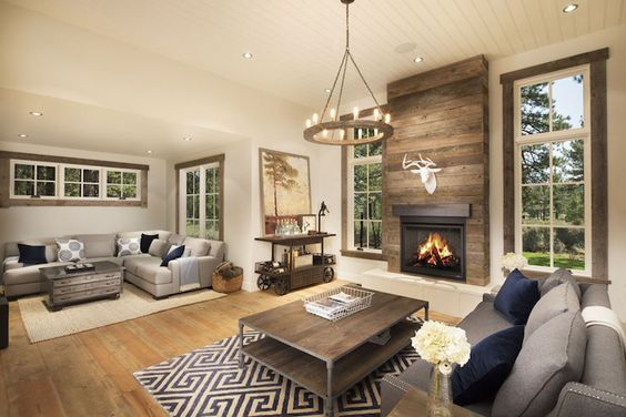Rustic Living Room With Two Separate And Distinct Living
