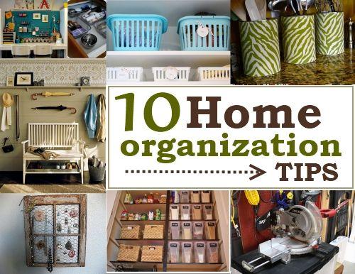 10 Home Organization Tips