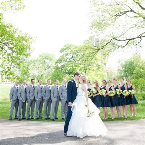 Gray and Navy Wedding Party Look