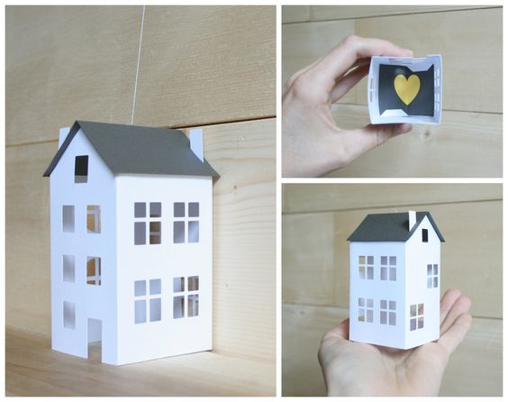 Petit papier maisons - mobiles papier équilibré - blanc & gris décor - scandinave moderne - maison et bureau - lit de la chambre bébé - cadeau Unique par LoveLouHome sur Etsy https://www.etsy.com/fr/listing/281372656/petit-papier-maisons-mobiles-papier