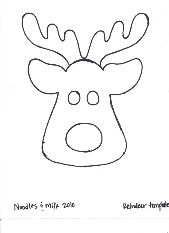 Reindeer outline for t shirt applique found at http for Rudolph antlers template