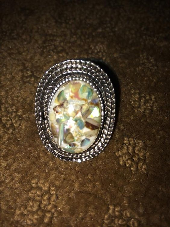 Colored Stone Ring. (Adjustable)