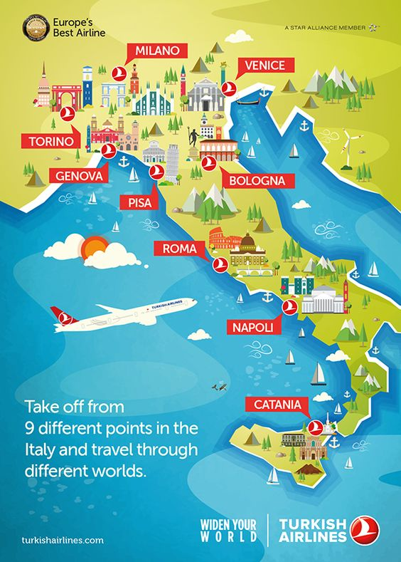 TURKISH AIRLINES   ILLUSTRATION NETWORK MAP