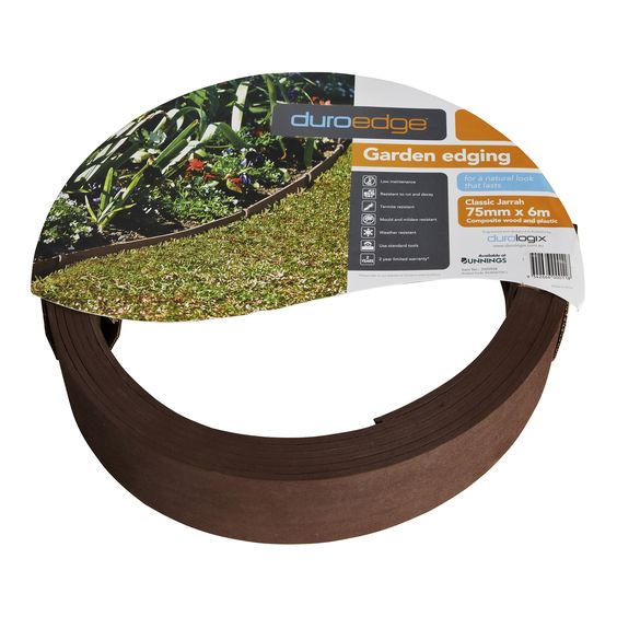 Garden Edging Barrier Ekologix 75x4mm 6m Composite Cjarrah