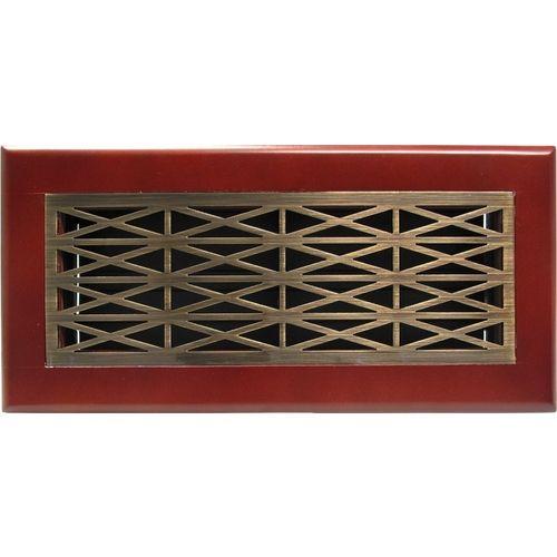 Trellis antique brass cherry frame floor register floor Decorative floor registers