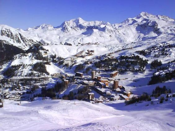 La Plagne - just look at that view.  If you have never tried skiing or snowboarding you have missed a great great experience