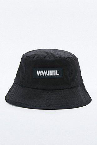 Wood Wood Black Bucket Hat