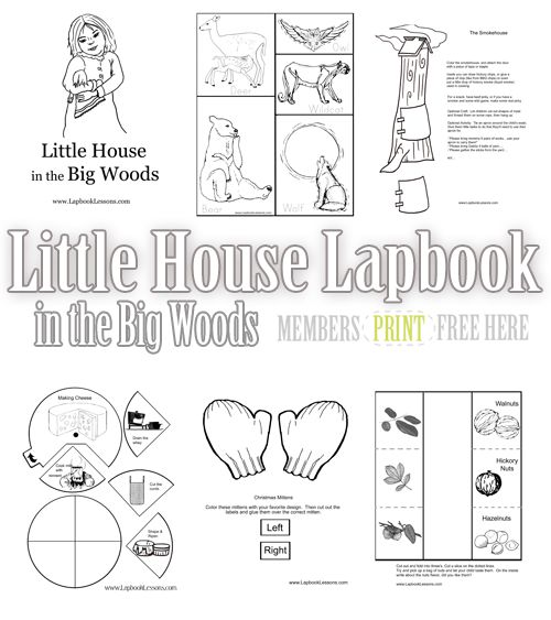Free Little House in the Big Woods Lapbook | Home school ...
