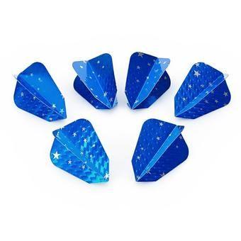 ซื้อ ขาย ราคาไม่แพง Stylish Star Pattern PET Darts Tail Wings (Blue   Silver ) คุณภาพดี ราคาไม่แพง